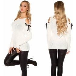 KouCla Dámský mohérový svetr s výkroji na ramenou bílý od 959 Kč ... a8826b2e03
