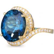 bb7854343b7 Eppi Zlatý prsten s topazem a diamanty Alana R31970