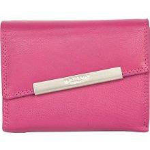 středně velká kvalitní kožená peněženka Kabana Růžová