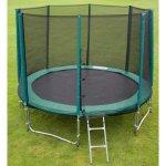 4jumping Trampolína 305 cm + ochranná síť + žebřík + krycí plachta