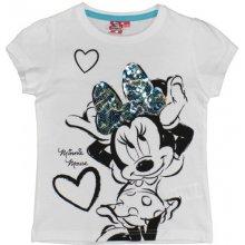 E plus M Dívčí tričko Minnie - bílé
