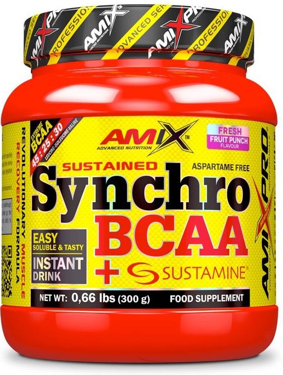 Výsledek obrázku pro AMIX SYNCHRO BCAA + SUSTAMINE DRINK 300 gr