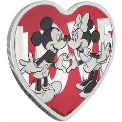 Disney Love Mickey Mouse and Minnie Mouse1 oz Ag stříbrná mince