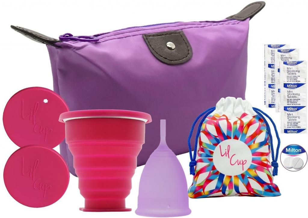 Recenze Lilcup fialový startovací balíček + sterilizační kelímek + sterilizační tablety Milton