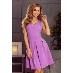 0f146a2cdbf6 Numoco dámské společenské šaty bez rukávů široká sukně s kapsami fialová