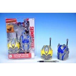 Hračka pro nejmenší Vysílačky walkie talkie Transformers 40,685MHz na baterie se světlem 2ks na kartě