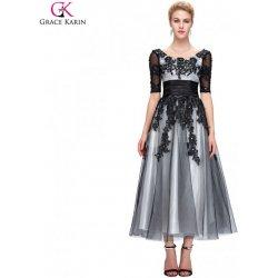 Grace Karin společenské šaty dlouhé CL6051-1 černá alternativy ... 04d80f612a