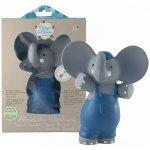 Meiya & Alvin pískátko / kousátko slon Alvin 100% přírodní kaučuk 16cm