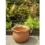 Keramika Litohoř Venkovní květináč váza Cheruská hnědá tmavá - 40 x 29