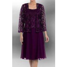 Společenské šaty krátké fialové