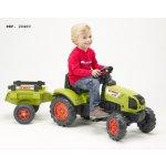FALK Šlapací traktor 2040B Claas Arion 410 s vlečkou