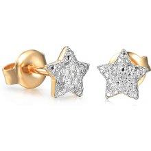 72a3f0951 iZlato Design zlaté náušnice pecky s diamanty hvězdičky IZBR606