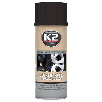 K2 COLOR FLEX 400 ml lesklá černá