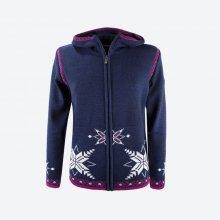KAMA dámský pletený Merino svetr 5010 modrý