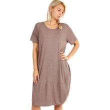 YooY dámské plážové šaty i pro plnoštíhlé hnědá d1f2ef3622