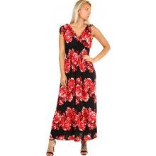 YooY dámské letní plážové šaty se vzorem červená dd43b02aa0
