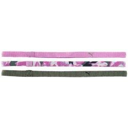 Čelenka PUMA AT Sportbands Womens růžová bílá olivová 3 ks aedd67e79d