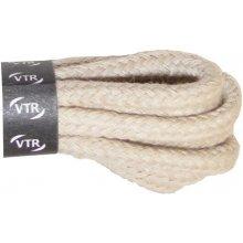 Kulaté béžové bavlněné tkaničky 70 cm