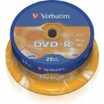Verbatim DVD-R 4,7GB 16x, AZO, cakebox, 25ks (43522)