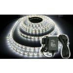 BERGE LED pásek - 5m - 72W - studená bílá + konektor a zdroj