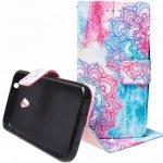 Pouzdro Wallet Design Alcatel U5 4047D Růžové