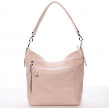 Kožená kabelka přes rameno Susana růžová e7ea4b7d18
