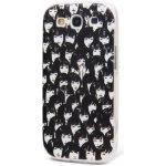 Pouzdro HGM Pružné plastové Samsung Galaxy S3 BLACKaWHITE