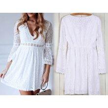 70814c4914f6 Fashionweek vzdušné krajkové dámské šaty Boho MD192 bílá