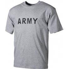 MFH tričko s nápisem army šedé