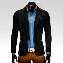 Ombre Clothing sako Franco černé