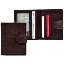 HELLIX Dámská kožená peněženka P-1553 hnědá