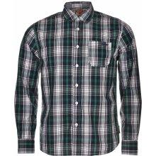 Lee Cooper Long Sleeve Check Mens Shirt Navy/Green/Whit