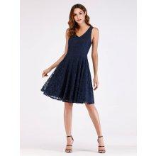 Ever Pretty krátké krajkové šaty 3065 modrá 00ae986690