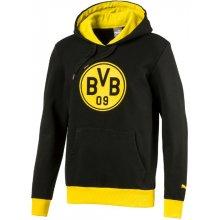 964b4d46d12 Puma Pánská mikina s kapucí Badge Borussia Dortmund černo-žlutá