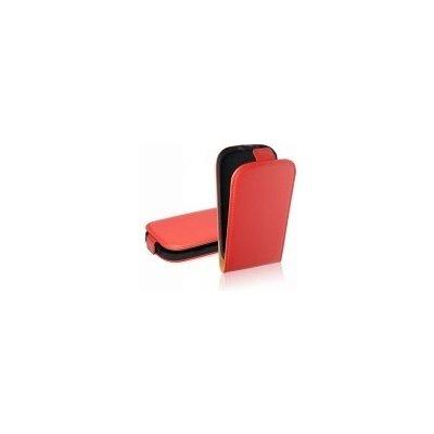 Pouzdro ForCell Slim Flip LG E610 Optimus L5 červené