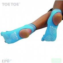 ToeToe HEEL bezprstové joga ABS protiskluzové ponožky tyrkysová