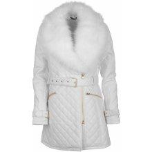 Golddigga Long PU Jacket dámské Winter bílá