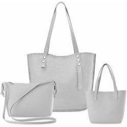 3a9e225100 Tři dámská kabelka shopper listonoška mini kufřík sada šedá od 229 ...