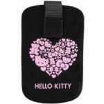 Pouzdro Hello Kitty M kožené černé