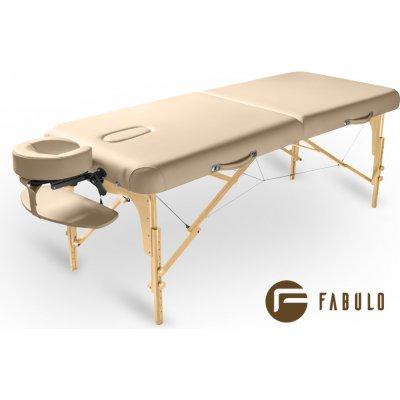 Fabulo GURU Set dřevěný masážní stůl krémová 192 x 76 cm / 16,8 kg / 5 barev