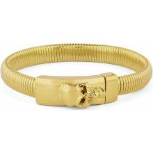 Trendhim náramek s lebkou na sponě ve zlaté barvě Z0-5-10158
