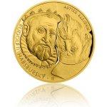 Česká mincovna Zlatá dvouuncová investiční mince Rudolf II. Habsburský a Magistr Kelley proof 62,2 g