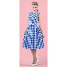 7c7f7c54123 Lindy Bop Retro šaty Colette kostkované modrá