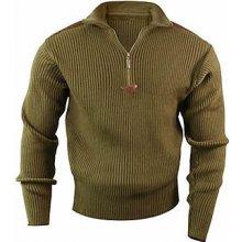 Commando ACRYLIC svetr 1/4 zip OLIV