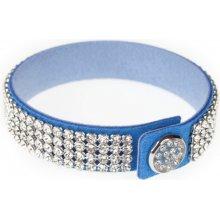 Swarovski Dazzle Crystal modrý třpytivý náramek 2212