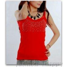Sexy top S krajkou 71801 3 červená