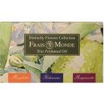Frais Monde Distinctly Flowers Collection Perfumed Oil Lily Of The Valley 12 ml + Perfumed Oil Jasmine 12 ml + Perfumed Oil Bergamot 12 ml dárková sada