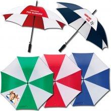 Pánský deštník s potiskem Bílá+modrá Vystřelovací