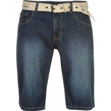 Pierre Cardin Webbing Belt short Mens Mid Wash