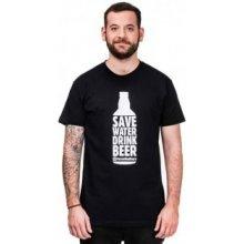 Horsefeathers SAVE WATER T Shirt černá
